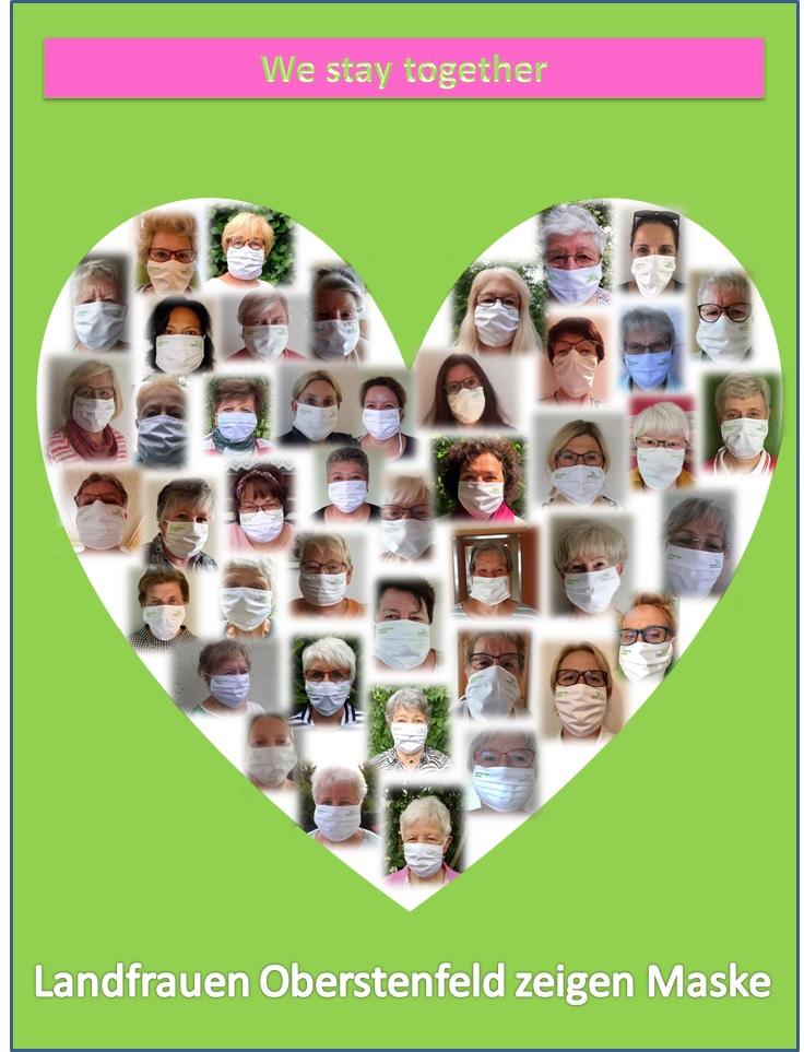Herz Collage Landfrauen We stay together