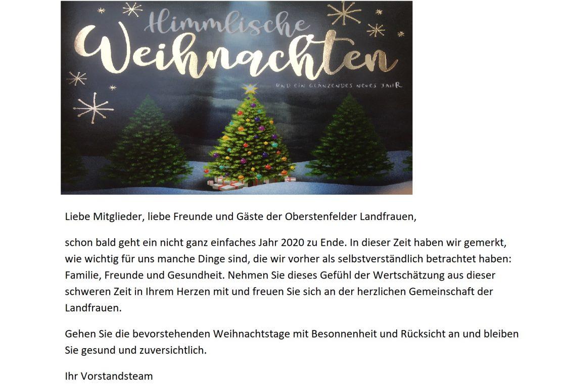 Weihnachtsgrüße Homepage