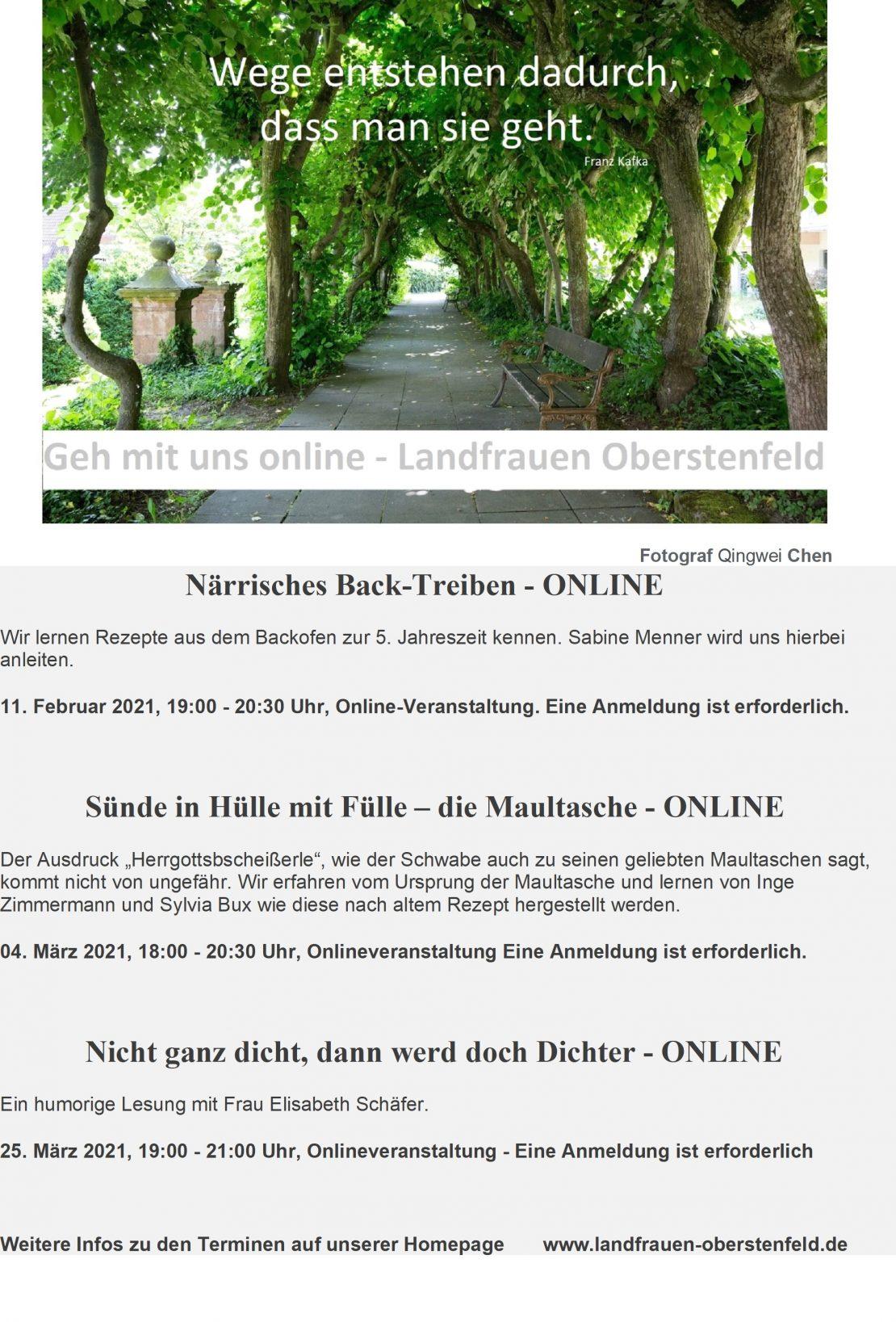 Geh mit uns online Foto Weg Stiftsgarten