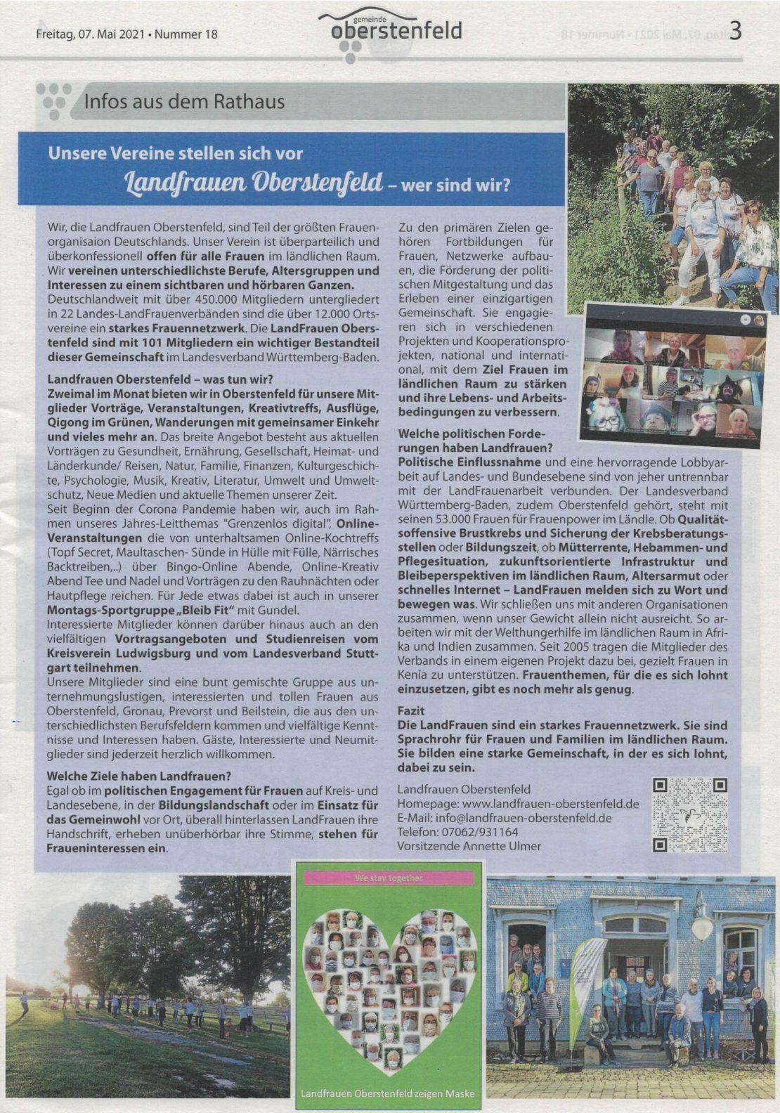 Bericht Mitteilungsblatt 05 2021 Seite 3