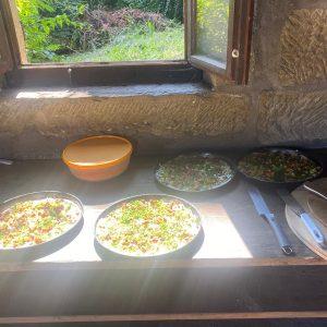 Blooz, Brot und Butter-Mandelkuchen beim Backhaustag der Landfrauen Oberstenfeld